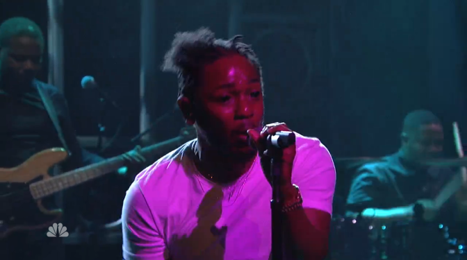 Yesterday Kendrick Lamar Blessed Us With A New Song On The Colbert Report