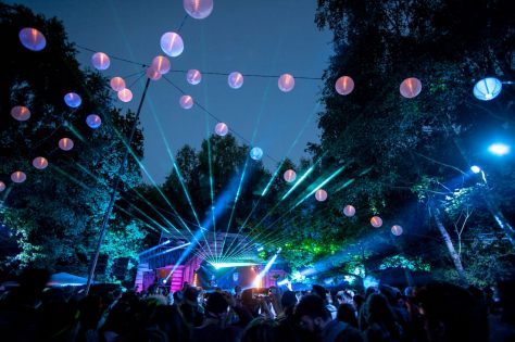 Lost Village Festival at night