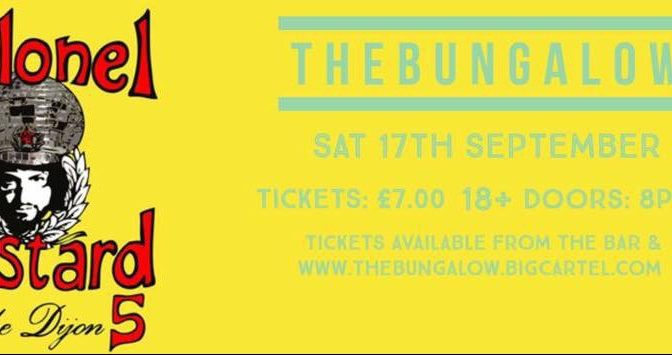 Live: Colonel Mustard & The Dijon 5 @ The Bungalow, Paisley, 17/09/16
